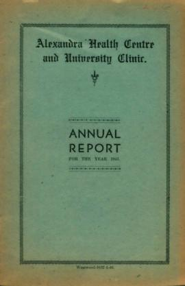 Alexandra Health Centre and University Clinic - Annual Reports
